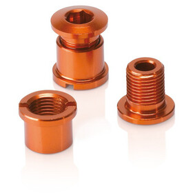 XLC Chain Ring Bolts 16g, with thread, set of 5 orange